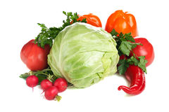 Fresh vegetables. Arrangement of various colorful fresh vegetables Stock Photo