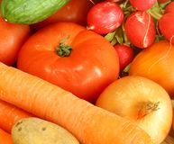 Fresh vegetables background Royalty Free Stock Photo