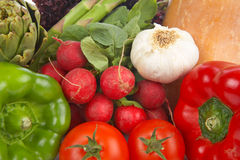 Fresh vegetables background Stock Photo