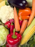 Fresh vegetables background Stock Image