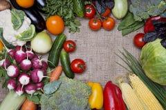 Fresh vegetables background Stock Photo