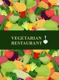 Fresh vegetables background. Concept design template to menu veg Stock Photos