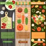 Fresh Vegetables Banners Set Stock Image