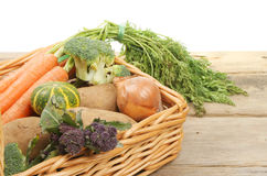 Fresh vegetables in a basket Stock Photography