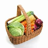 Fresh vegetables in a basket Royalty Free Stock Photos