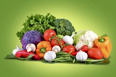 Fresh Vegetables Basket Stock Photos