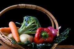 Fresh Vegetables In Basket Royalty Free Stock Images