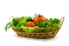 Fresh vegetables in a basket Stock Image
