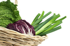 Fresh vegetables in a basket close up Stock Photo