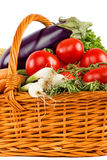 Fresh vegetables in basket Stock Images