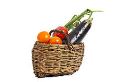 Fresh vegetables in basket Royalty Free Stock Photos