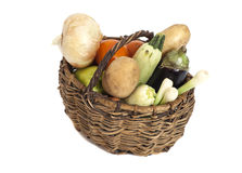 Fresh vegetables in basket Royalty Free Stock Photo