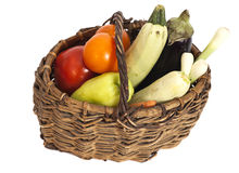 Fresh vegetables in basket Stock Photography