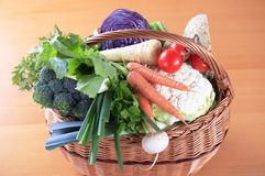Fresh vegetables in a basket Royalty Free Stock Images