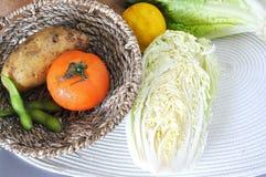 Fresh Vegetables in Basket Royalty Free Stock Image
