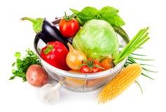 Fresh vegetables in basket Royalty Free Stock Photo