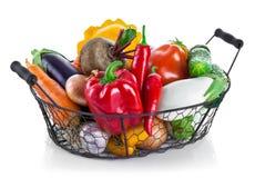 Fresh vegetables in basket Stock Image