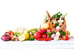 Fresh vegetables in basket Stock Images