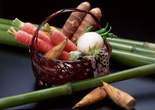 Fresh vegetables in the basket Royalty Free Stock Photo