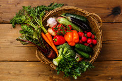 Fresh vegetables in basket Royalty Free Stock Photography