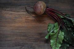 Fresh vegetables beetroot on  wooden background. Harvest still life Stock Photo