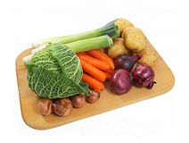 Fresh vegetables on a board Royalty Free Stock Photos