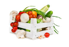 Fresh vegetables in box Royalty Free Stock Image