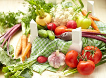 Fresh Vegetables in a Box Stock Image