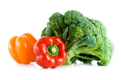Fresh vegetables, broccoli and pepper Royalty Free Stock Photography