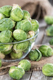 Fresh Vegetables (Brussel Sprouts) Stock Image