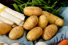 Fresh vegetables, bunch of potatoes Stock Photos