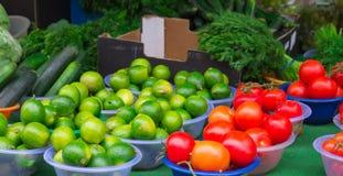 Fresh vegetables at Camden Town market Stock Photos