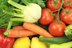 Fresh vegetables, close up image Royalty Free Stock Photos