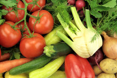 Fresh vegetables, close up image.  Stock Photography