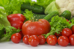 Fresh vegetables close up Royalty Free Stock Photo