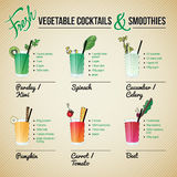 Fresh Vegetables Cocktails and Smoothies Royalty Free Stock Photos