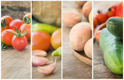 Fresh Vegetables collage Stock Image