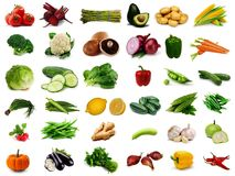 Fresh Vegetables Collage Royalty Free Stock Image