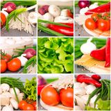Fresh vegetables collage Stock Images