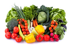 Fresh vegetables. Collection of fresh vegetables on white background Royalty Free Stock Image
