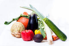 Fresh vegetables. Collection of fresh vegetables on white background Royalty Free Stock Photography