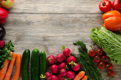 Fresh vegetables. Colorful vegetables background. Healthy vegeta Stock Photos