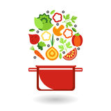 Fresh vegetables for cooking. Royalty Free Stock Images