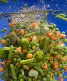 Fresh vegetables cooking in water Stock Photos