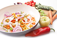 Fresh vegetables for cooking Stock Image