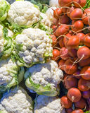 Fresh vegetables on the counter market Stock Photo