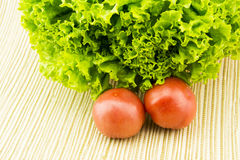 Fresh vegetables on the counter. The tomatoes, let Royalty Free Stock Image