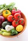 Fresh vegetables  for creating mexican cuisine Royalty Free Stock Images