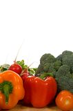 Fresh vegetables on cutting board. Fresh vegetbles on wooden cutting board Stock Image