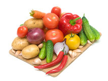 Fresh vegetables on a cutting board Royalty Free Stock Photography